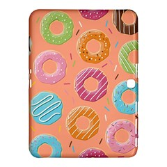 Doughnut Bread Donuts Orange Samsung Galaxy Tab 4 (10 1 ) Hardshell Case  by Mariart