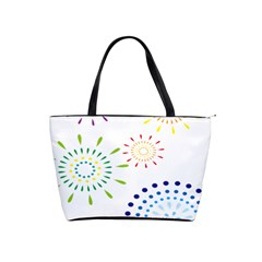 Fireworks Illustrations Fire Partty Polka Shoulder Handbags by Mariart