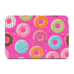 Doughnut Bread Donuts Pink Plate Mats by Mariart