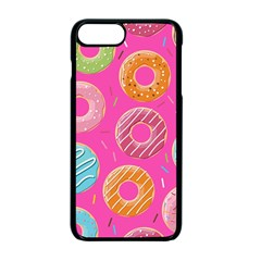 Doughnut Bread Donuts Pink Apple Iphone 7 Plus Seamless Case (black) by Mariart