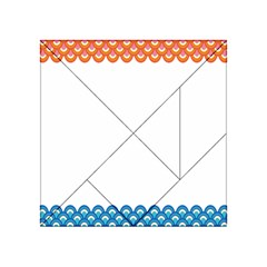 Fish Scales Dragon Circle Acrylic Tangram Puzzle (4  X 4 )