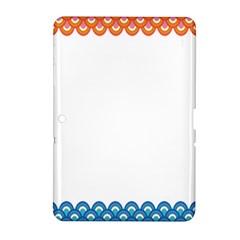 Fish Scales Dragon Circle Samsung Galaxy Tab 2 (10 1 ) P5100 Hardshell Case  by Mariart