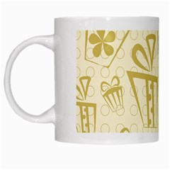 Gift Party Polka Grey White Mugs by Mariart