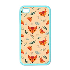 Foxes Animals Face Orange Apple Iphone 4 Case (color) by Mariart