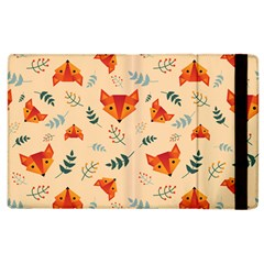 Foxes Animals Face Orange Apple Ipad 2 Flip Case by Mariart