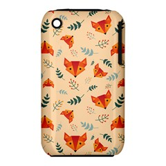 Foxes Animals Face Orange Iphone 3s/3gs by Mariart