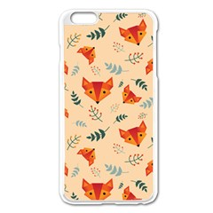 Foxes Animals Face Orange Apple Iphone 6 Plus/6s Plus Enamel White Case by Mariart