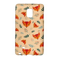 Foxes Animals Face Orange Galaxy Note Edge by Mariart