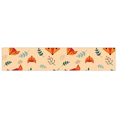 Foxes Animals Face Orange Flano Scarf (small) by Mariart