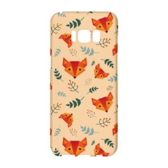 Foxes Animals Face Orange Samsung Galaxy S8 Hardshell Case  by Mariart