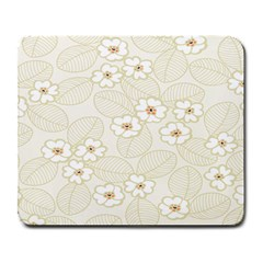 Flower Floral Leaf Large Mousepads by Mariart