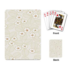 Flower Floral Leaf Playing Card by Mariart
