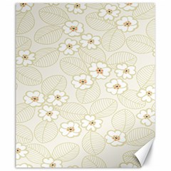 Flower Floral Leaf Canvas 20  X 24   by Mariart