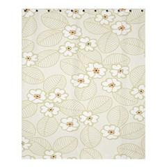 Flower Floral Leaf Shower Curtain 60  X 72  (medium)  by Mariart