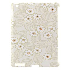 Flower Floral Leaf Apple Ipad 3/4 Hardshell Case (compatible With Smart Cover) by Mariart