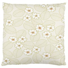 Flower Floral Leaf Large Cushion Case (two Sides) by Mariart