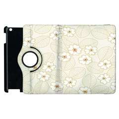 Flower Floral Leaf Apple Ipad 2 Flip 360 Case by Mariart