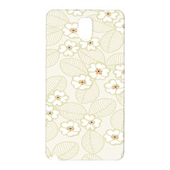Flower Floral Leaf Samsung Galaxy Note 3 N9005 Hardshell Back Case by Mariart