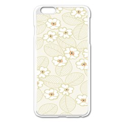 Flower Floral Leaf Apple Iphone 6 Plus/6s Plus Enamel White Case by Mariart