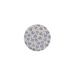 Glass Polka Circle Blue 1  Mini Buttons by Mariart