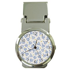 Glass Polka Circle Blue Money Clip Watches by Mariart