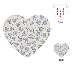 Glass Polka Circle Blue Playing Cards (heart)  by Mariart