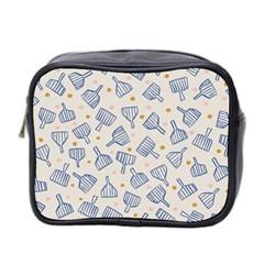 Glass Polka Circle Blue Mini Toiletries Bag 2 Side by Mariart