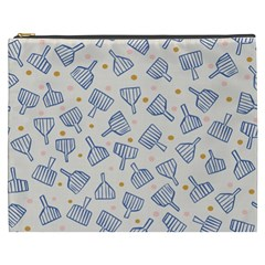 Glass Polka Circle Blue Cosmetic Bag (xxxl)  by Mariart