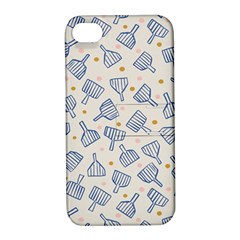 Glass Polka Circle Blue Apple Iphone 4/4s Hardshell Case With Stand by Mariart