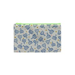 Glass Polka Circle Blue Cosmetic Bag (xs) by Mariart