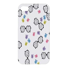 Glasses Bear Cute Doll Animals Apple Iphone 4/4s Hardshell Case by Mariart
