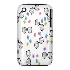 Glasses Bear Cute Doll Animals Iphone 3s/3gs by Mariart