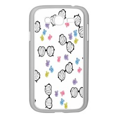Glasses Bear Cute Doll Animals Samsung Galaxy Grand Duos I9082 Case (white) by Mariart