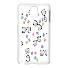 Glasses Bear Cute Doll Animals Samsung Galaxy Note 3 N9005 Case (white) by Mariart