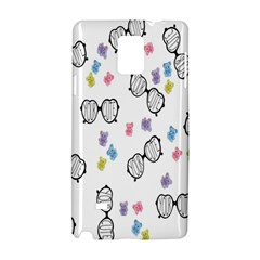 Glasses Bear Cute Doll Animals Samsung Galaxy Note 4 Hardshell Case by Mariart