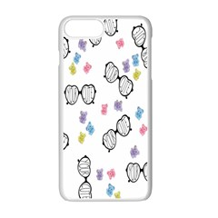 Glasses Bear Cute Doll Animals Apple Iphone 7 Plus White Seamless Case by Mariart