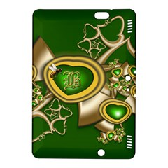 Green And Gold Hearts With Behrman B And Bee Kindle Fire Hdx 8 9  Hardshell Case by WolfepawFractals