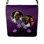 Purplicious Bag - Flap Closure Messenger Bag (L)