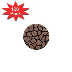 Skin1 Black Marble & Brown Colored Pencil 1  Mini Magnet (100 Pack)  by trendistuff