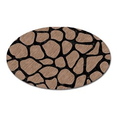 Skin1 Black Marble & Brown Colored Pencil Magnet (oval) by trendistuff