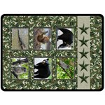 Camo Wildlife Blanket - Double Sided Fleece Blanket (Large)