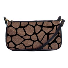 Skin1 Black Marble & Brown Colored Pencil Shoulder Clutch Bag by trendistuff