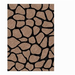 Skin1 Black Marble & Brown Colored Pencil Small Garden Flag (two Sides) by trendistuff