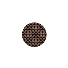 Scales3 Black Marble & Brown Colored Pencil (r) 1  Mini Magnet by trendistuff