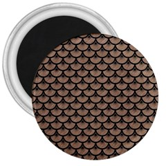Scales3 Black Marble & Brown Colored Pencil (r) 3  Magnet by trendistuff