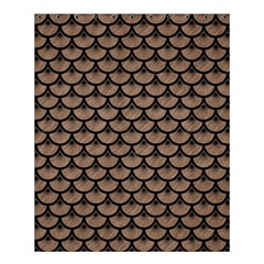 Scales3 Black Marble & Brown Colored Pencil (r) Shower Curtain 60  X 72  (medium) by trendistuff