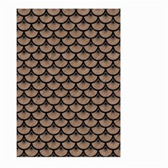 Scales3 Black Marble & Brown Colored Pencil (r) Large Garden Flag (two Sides) by trendistuff