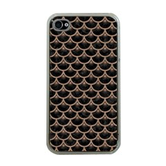 Scales3 Black Marble & Brown Colored Pencil Apple Iphone 4 Case (clear) by trendistuff