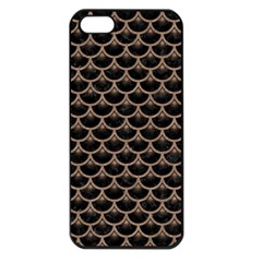 Scales3 Black Marble & Brown Colored Pencil Apple Iphone 5 Seamless Case (black) by trendistuff