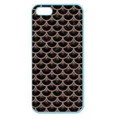 Scales3 Black Marble & Brown Colored Pencil Apple Seamless Iphone 5 Case (color) by trendistuff